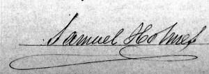 Signature of Samuel HOLMES