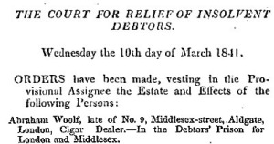 London Gazette 12 March 1841