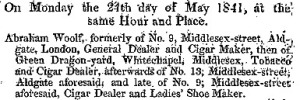 London Gazette 30 April 1841