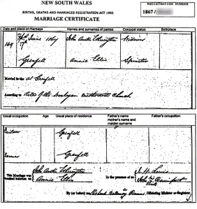 John Austin Etherington marriage